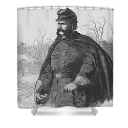 General Ambrose Burnside Shower Curtain by War Is Hell Store