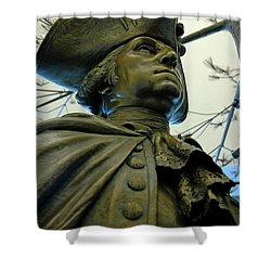 General George Washington Shower Curtain by LeeAnn McLaneGoetz McLaneGoetzStudioLLCcom