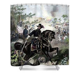 General Grant During Battle Shower Curtain by War Is Hell Store