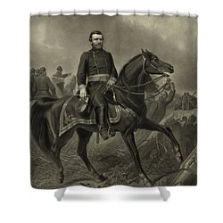 General Grant On Horseback  Shower Curtain by War Is Hell Store