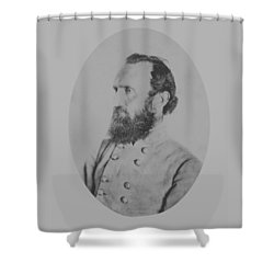 General Thomas Stonewall Jackson Shower Curtain by War Is Hell Store