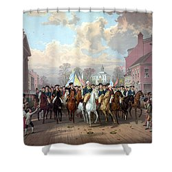 General Washington Enters New York Shower Curtain by War Is Hell Store