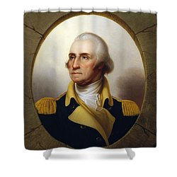 General Washington - Porthole Portrait  Shower Curtain by War Is Hell Store