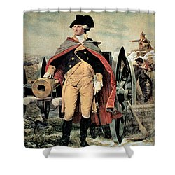 George Washington At Dorchester Heights Shower Curtain by Emanuel Gottlieb Leutze