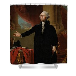 George Washington Lansdowne Portrait Shower Curtain by War Is Hell Store