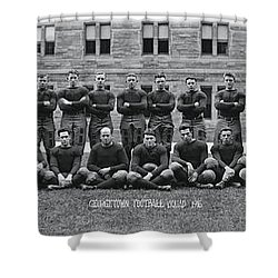 Georgetown U Football Squad Shower Curtain by Panoramic Images