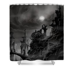 Ghost Castle Shower Curtain by James Christopher Hill