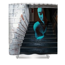 Ghost Of Pain - Self Portrait Shower Curtain by Jaeda DeWalt