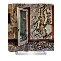 Ghost Of Time Shower Curtain by Evelina Kremsdorf