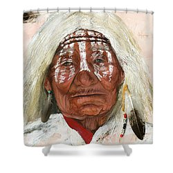Ghost Shaman Shower Curtain by J W Baker