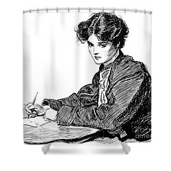 Gibson: Drawings, C1900 Shower Curtain by Granger