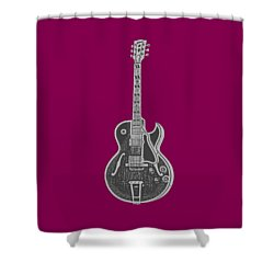 Gibson Es-175 Electric Guitar Tee Shower Curtain by Edward Fielding