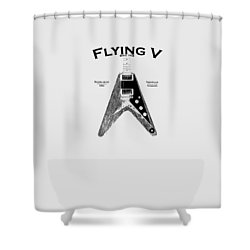 Gibson Flying V Shower Curtain by Mark Rogan