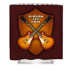 Gibson Les Paul Standart  Shield Shower Curtain by Doron Mafdoos