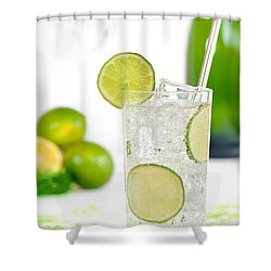 Gin And Tonic Drink Shower Curtain by Amanda Elwell
