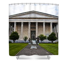 Girard College Philadelphia Shower Curtain by Bill Cannon