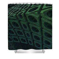 Girders Shower Curtain by Lyle Hatch