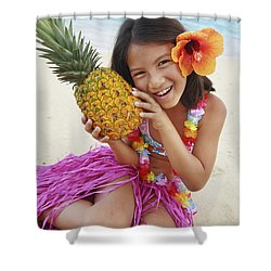 Girl In Tropical Paradise Shower Curtain by Brandon Tabiolo - Printscapes