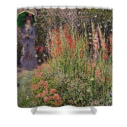 Gladioli Shower Curtain by Claude Monet