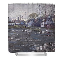 Gloomy And Rainy Day By Hyde Park Shower Curtain by Ylli Haruni