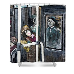 Gloria Swanson In Subway Scene From Manhandled Shower Curtain by Reb Frost