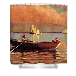 Gloucester Harbor Shower Curtain by Winslow Homer