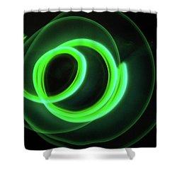 Glow Stick Motion Shower Curtain by Denise Keegan Frawley