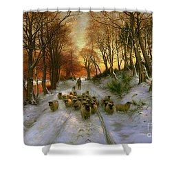 Glowed With Tints Of Evening Hours Shower Curtain by Joseph Farquharson