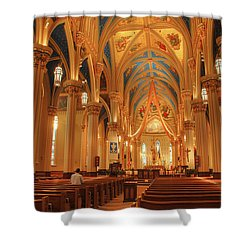 God Do You Hear Me Shower Curtain by Ken Smith