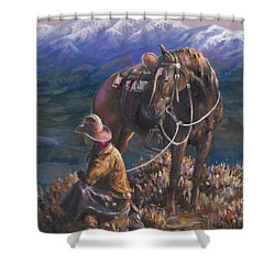 God's Country Shower Curtain by Mia DeLode
