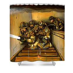 Goin' To Work Shower Curtain by Paul Walsh