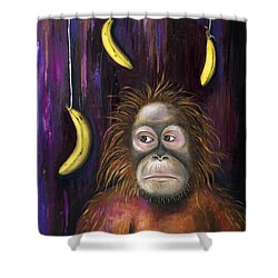 Going Bananas Shower Curtain by Leah Saulnier The Painting Maniac