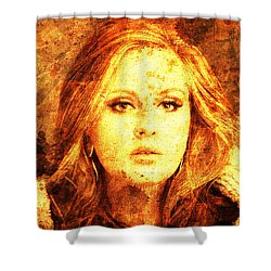 Golden Adele Shower Curtain by Pablo Franchi
