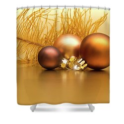 Golden Christmas Shower Curtain by Wim Lanclus