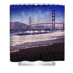 Golden Gate Shower Curtain by Everet Regal