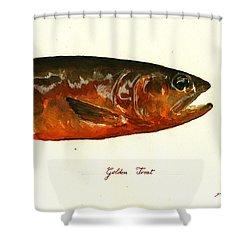 Golden Trout  Shower Curtain by Juan  Bosco