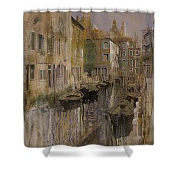 Golden Venice Shower Curtain by Guido Borelli