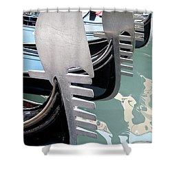 Gondola In Line Shower Curtain by Heiko Koehrer-Wagner