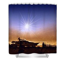 Gone Fishin Shower Curtain by Bill Cannon