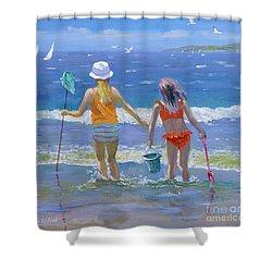 Gone Fishing  Shower Curtain by William Ireland