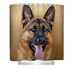 Good Boy Shower Curtain by Sandy Keeton