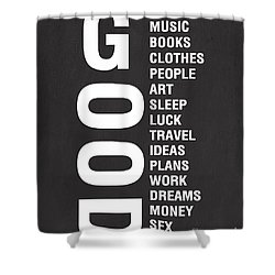 Good Things Shower Curtain by Linda Woods