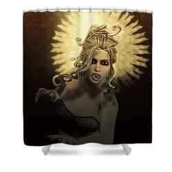 Gorgon Medusa Shower Curtain by Joaquin Abella
