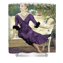 Grace Kelly Draw Shower Curtain by Quim Abella