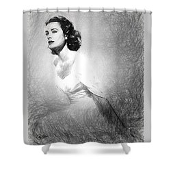 Grace Kelly Sketch Shower Curtain by Quim Abella