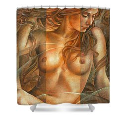 Gracia2 Shower Curtain by Arthur Braginsky