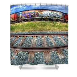 Graffiti Genius 2 Shower Curtain by Bob Christopher