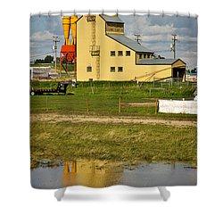 Grain Elevator In Balzac Alberta Shower Curtain by Louise Heusinkveld