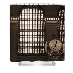 Grand Central Station Shower Curtain by Henri Irizarri