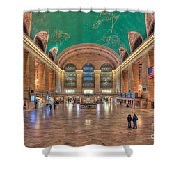 Grand Central Terminal V Shower Curtain by Clarence Holmes